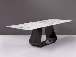 amond ceramic table calacatta decapato
