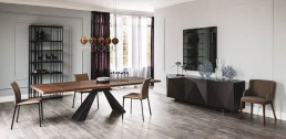 cattelan italia eliot table wood drive rita chairs bookcase arsenal apollo lamps madia kay