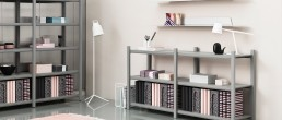6009 Normann Copenhagen Jet Shelf in Office 160cm Silver 1
