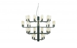 Amp Chandelier Large EU Gold Green