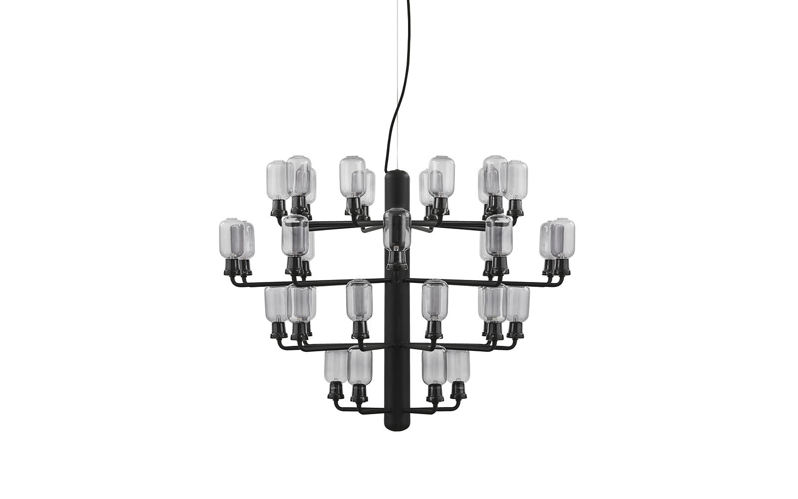 Amp Chandelier Large EU Smoke Black