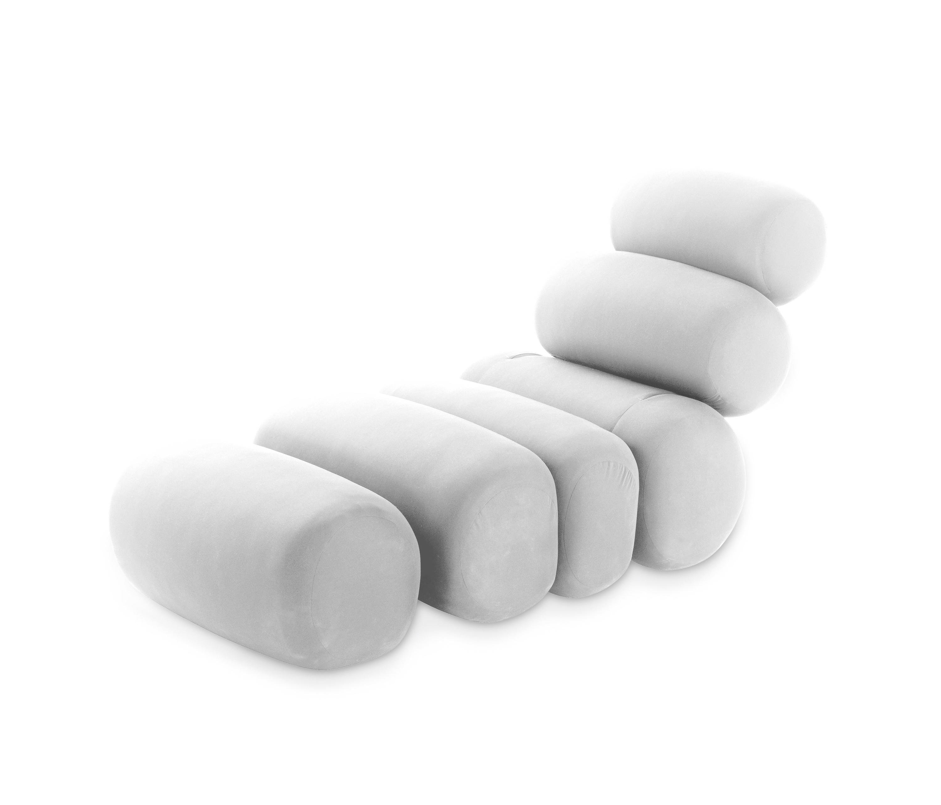 Bruco Presotto Chaise Longue White