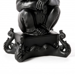 Candle Holder Chimp Black Detail Seletti