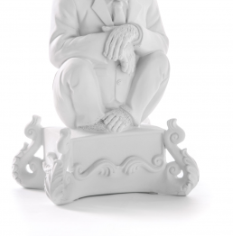 Candle Holder Chimp White Seletti