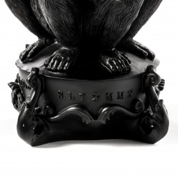 Candle Holder Detail Three Monkeys Black Seletti