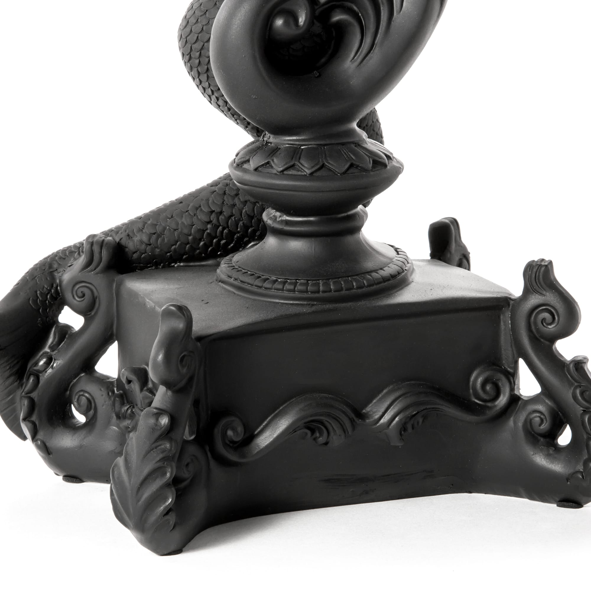 Candle Holder Mermaid Black Detail Seletti