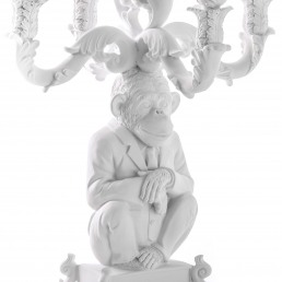 Candle Holder Seletti Chimp White Detail