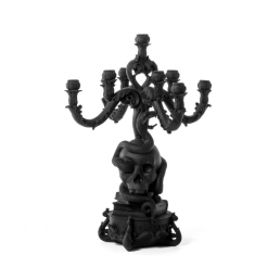 Candle Holder Seletti Skull Black