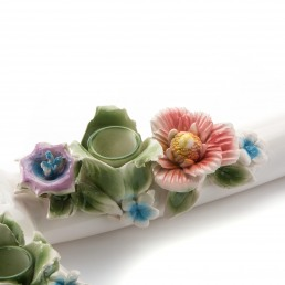 Candle Holder Seletti The Axe Detail Flowers