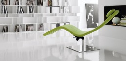 Cattelan Italia Casanova Chaise Longue Green