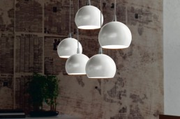 Cattelan Italia Ceiling Lamp Eclipse Pearl White