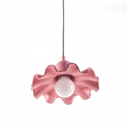 Ceiling Lamp Seletti Egg of Columbus Pink Racurs