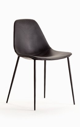 Chair Opinion Ciatti Mammamia Leather Chocolate Brown 1