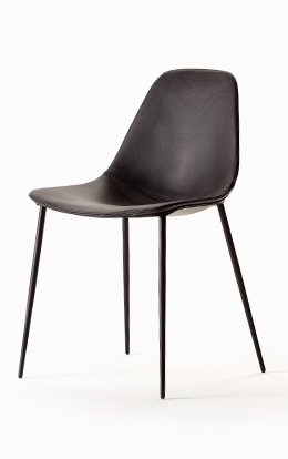 Chair Opinion Ciatti Mammamia Leather Chocolate Brown 4
