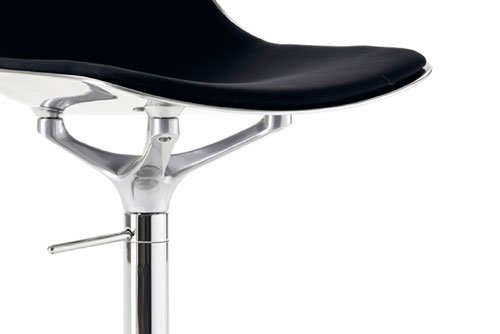Chair Opinion Ciatti Mammamia Stool Black Leather