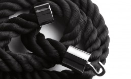 Coat Hacks Opinion Ciatti La Cima3 Black rope Hangers in black nickel