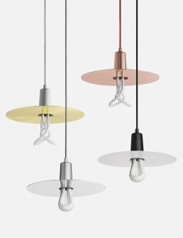 Drop Hat Lamp Shade Set With Plumen Bulb Collection
