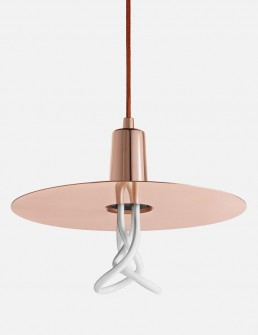 Drop Hat Lamp Shade Set With Plumen Bulb Cooper