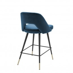 Eichholtz Avorio Stool Blue Back