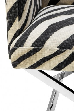 Eichholtz Dawson Chair Zebra detail