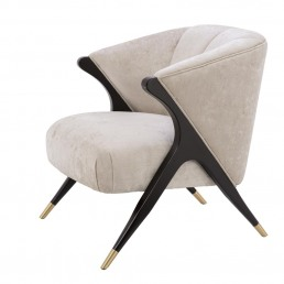 Eichholtz Pavone Chair Off white racurs