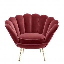 Eichholtz Trapezium Chair Wine Red racurs