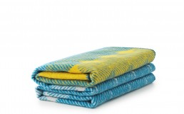 Ekko Throw Blanket YellowDustyBlue NC