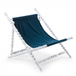 Foldable Deckchair Seletti Blue Racurs