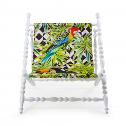Foldable Deckchair Seletti Parrots White