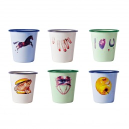 Glasses Set of 6 Seletti Enamel