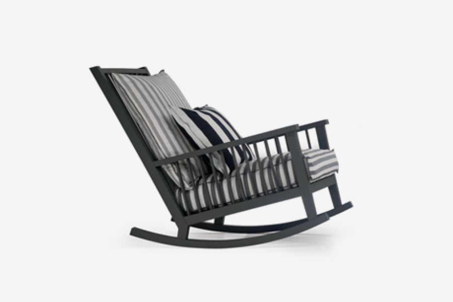 Living Collection Rocking Chair Gervasoni Gray 09 Frnshx