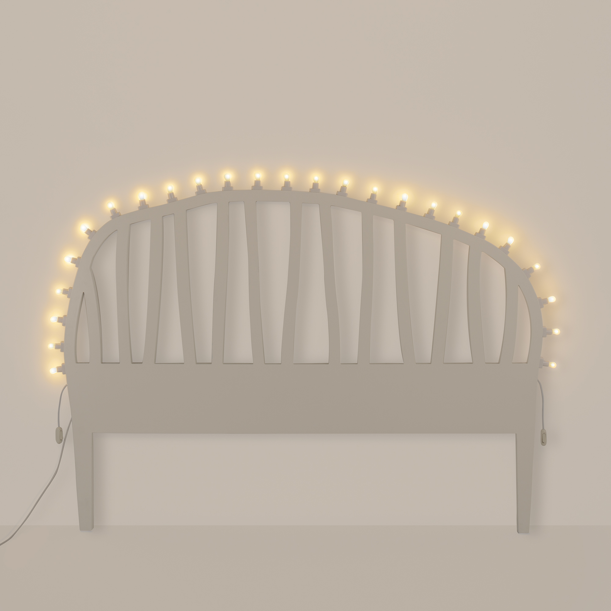 Headboard with Bulbs Seletti Luminaire Design