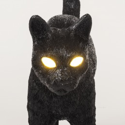 Lamp Seletti Jobby The Cat Black Detail Face