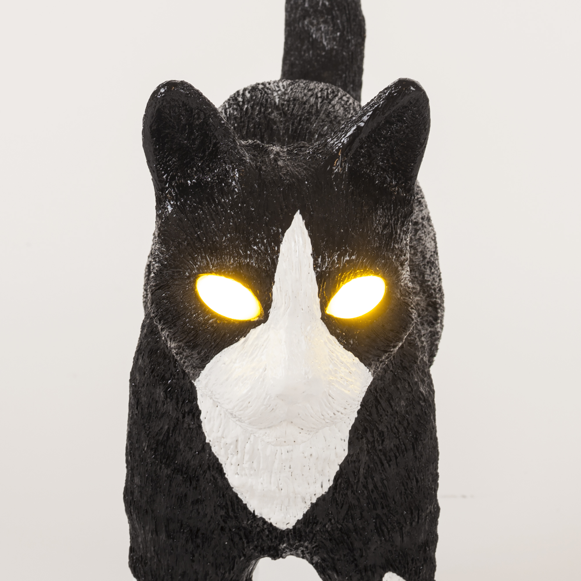 Lamp Seletti Jobby The Cat Black White Detail Face