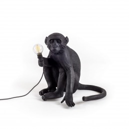 Lamp Seletti The Monkey Black Sitting Version