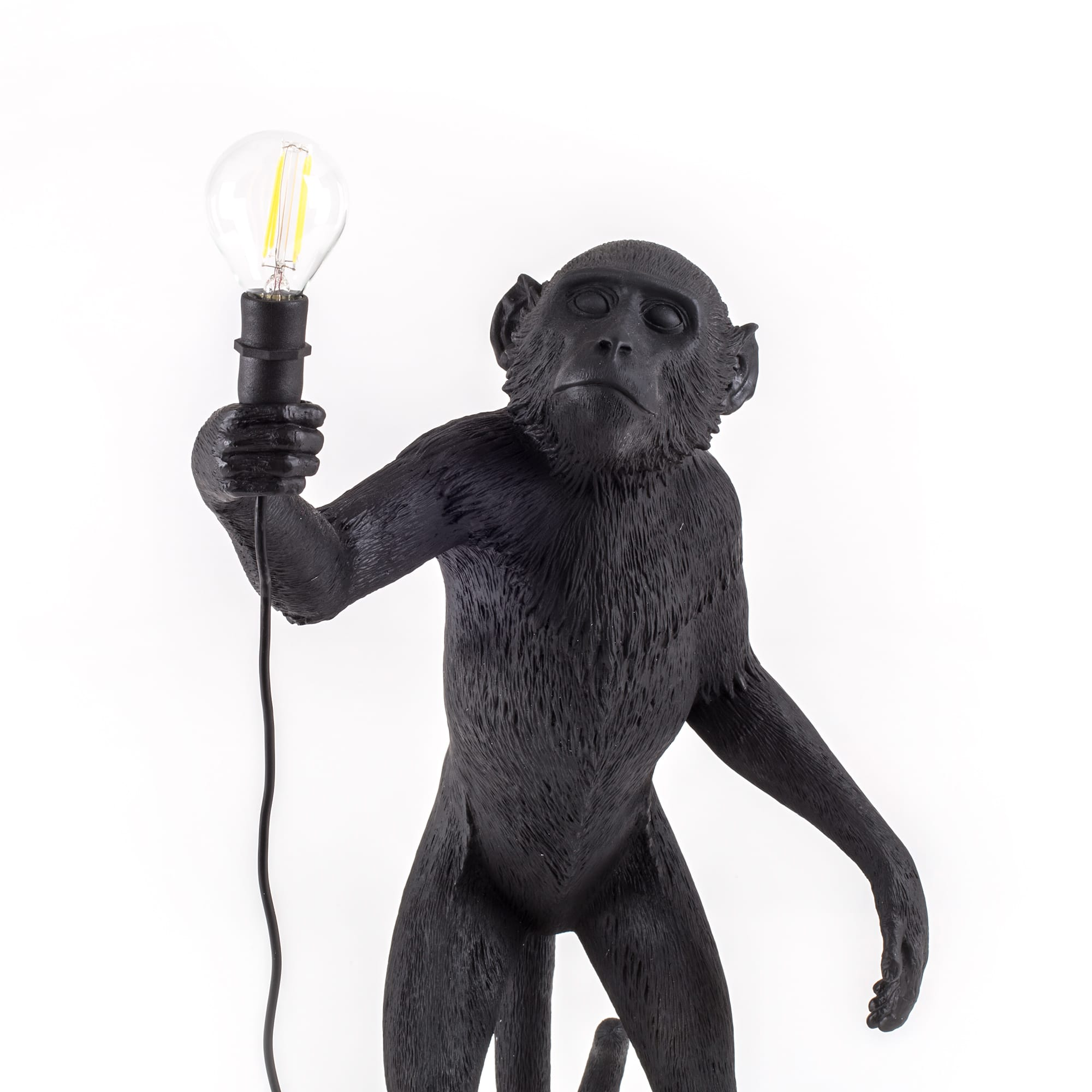 Lamp Seletti The Monkey Black Standing Version Detail