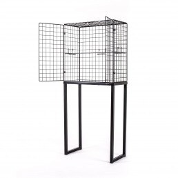 Large Cabinet Seletti Les Volieres Black Open