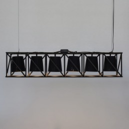 Line Lamp Seletti Multilamp Black Interior