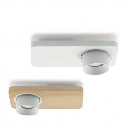 Linea Light Beebo Ceiling White and Oak