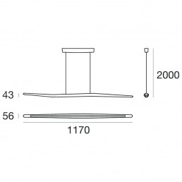 Linea Light Branch Dimensions