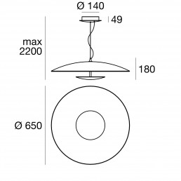 Linea Light Horizon pendant dimensions