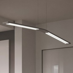 Linea Light Lama pendant bent grey
