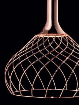 Linea Light Mongolfier copper closeup