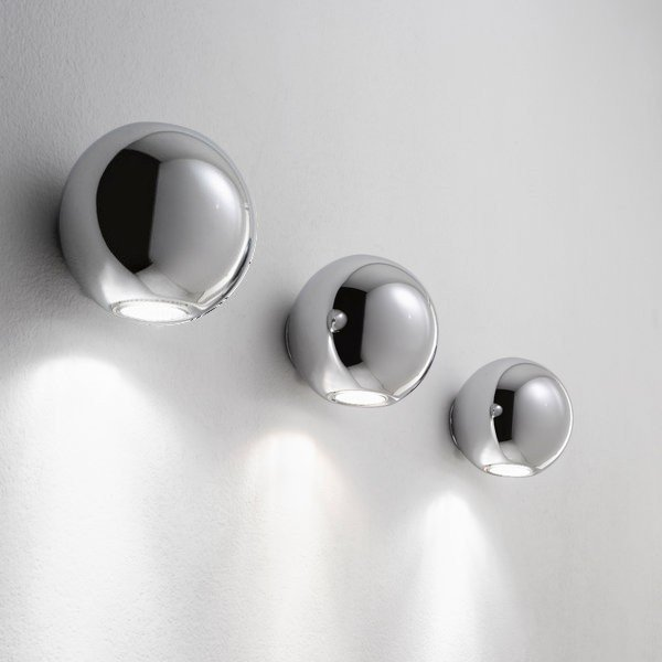 Linea Light Pelota Wall Single Emission Chrome Group