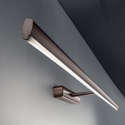 Linea Light Straight wall black
