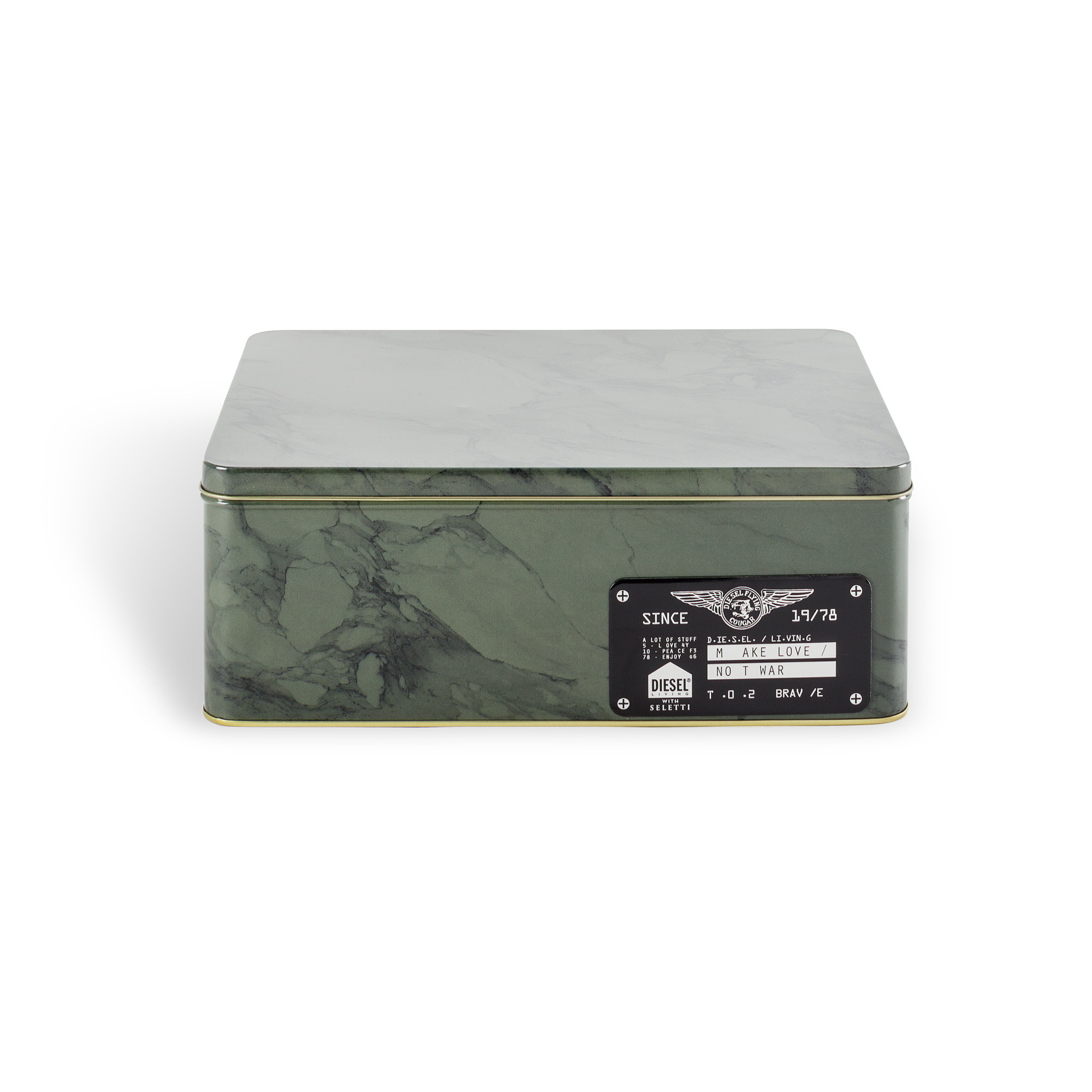 Metal Box Seletti Alumarble Big