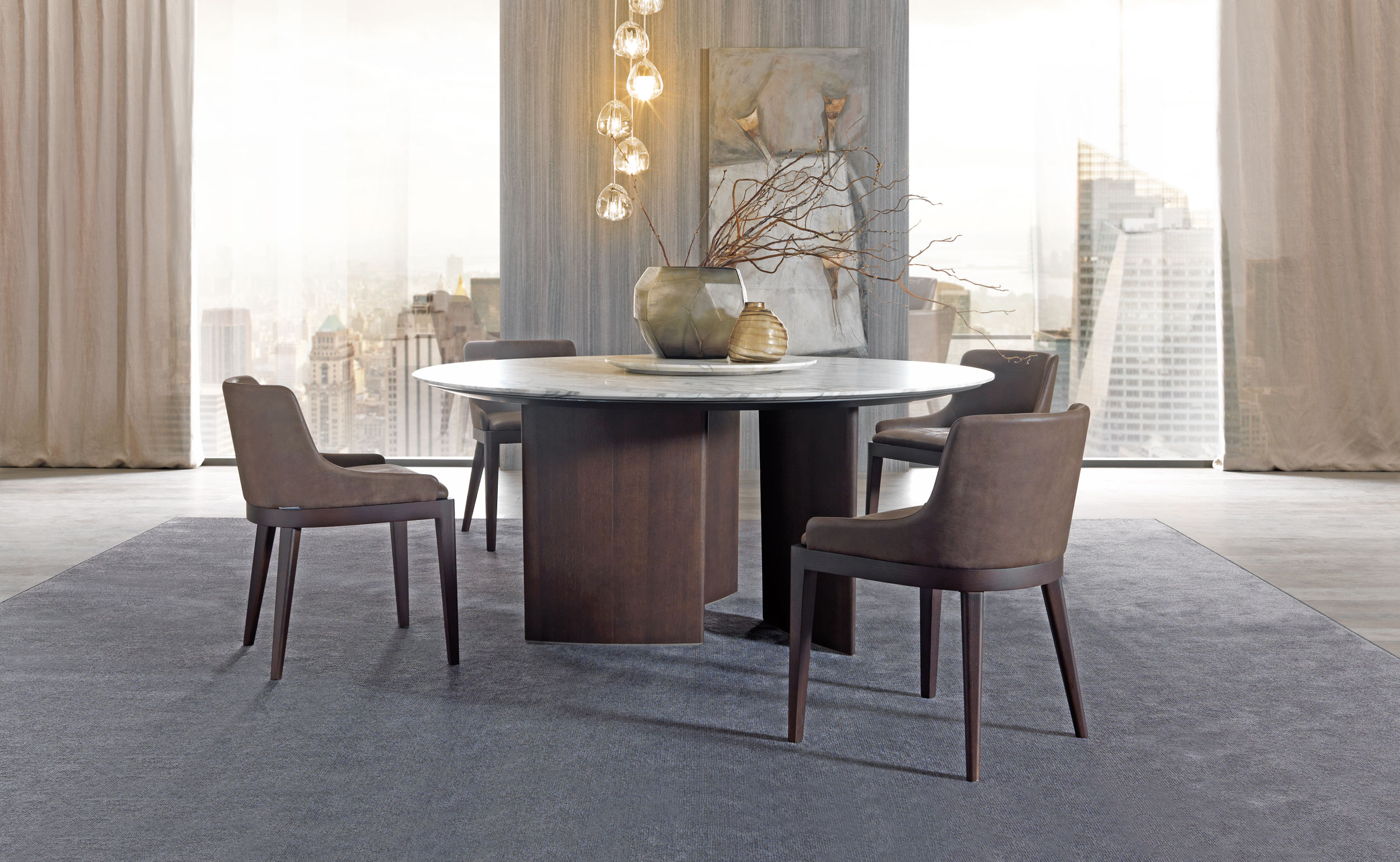 MisuraEmme Ala Table Round Marble Front