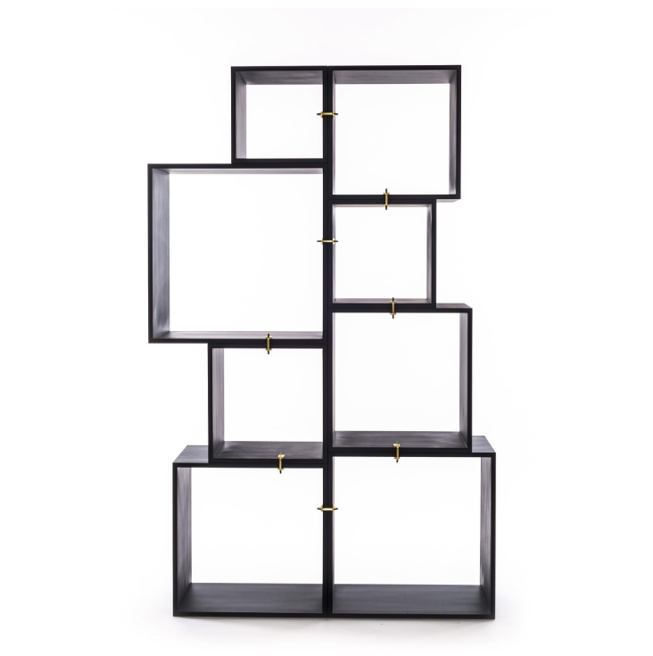 Modular Bookcase Seletti Assemblage Anthracite Composition