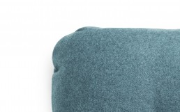 NC Hi Cushion Wool Turquoise Detail