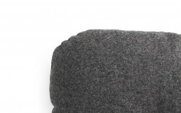 NC Hi Cushion Wool Dark Grey Detail